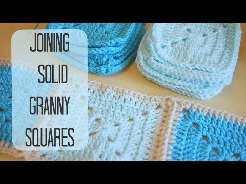 crochet squares are uneven how to join