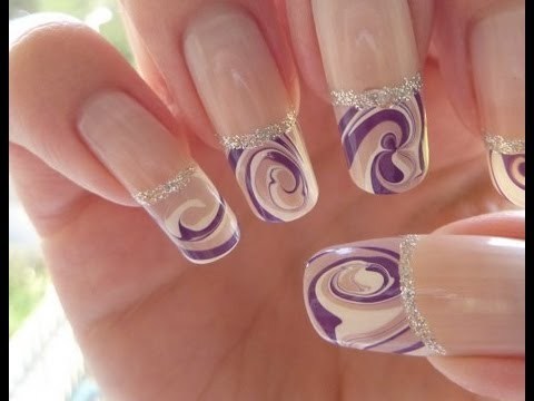 My Entry To Nailsbyyous Nail Art Contest Funky French Swirl Water
