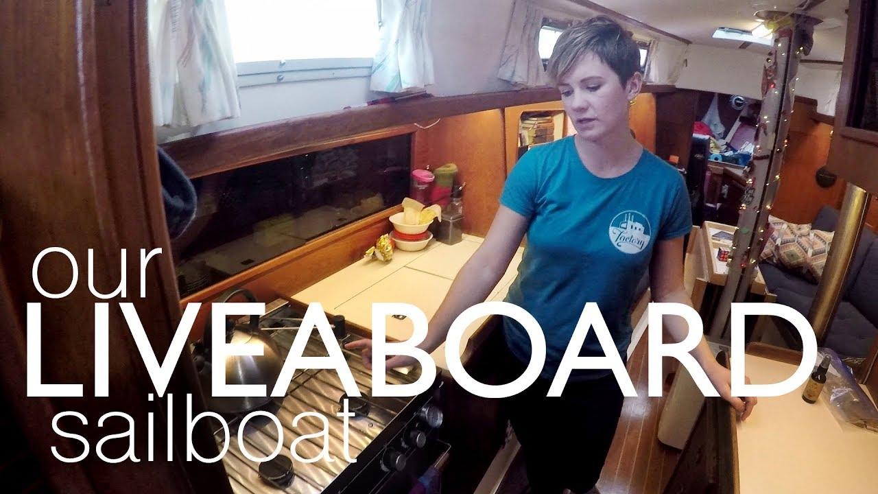 Tour Of Our Liveaboard Sailboat - Walde Sailing (Niagara 35)