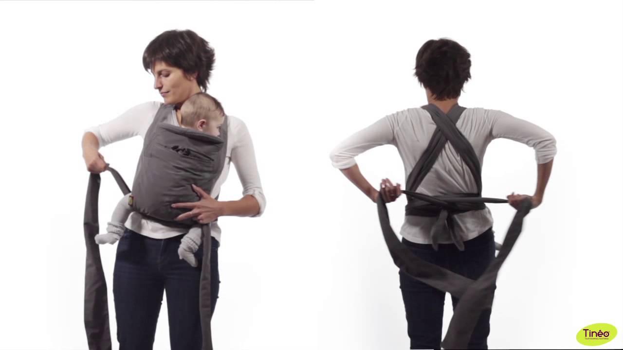 Porte-bébé ECHARPE DE PORTAGE de TINEO - YouTube 03ea3b552bd