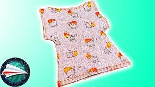T-shirt z dżerseju dla trzylatka |  mały T-shirt w 5 minut | szycie dla początkujących