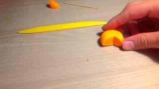 как сделать сыр из пластилина