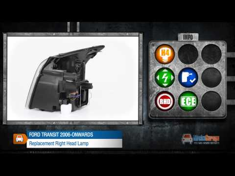 Ford Transit 2006 Onwards Replacement Right Head Lamp From MicksGarage.com