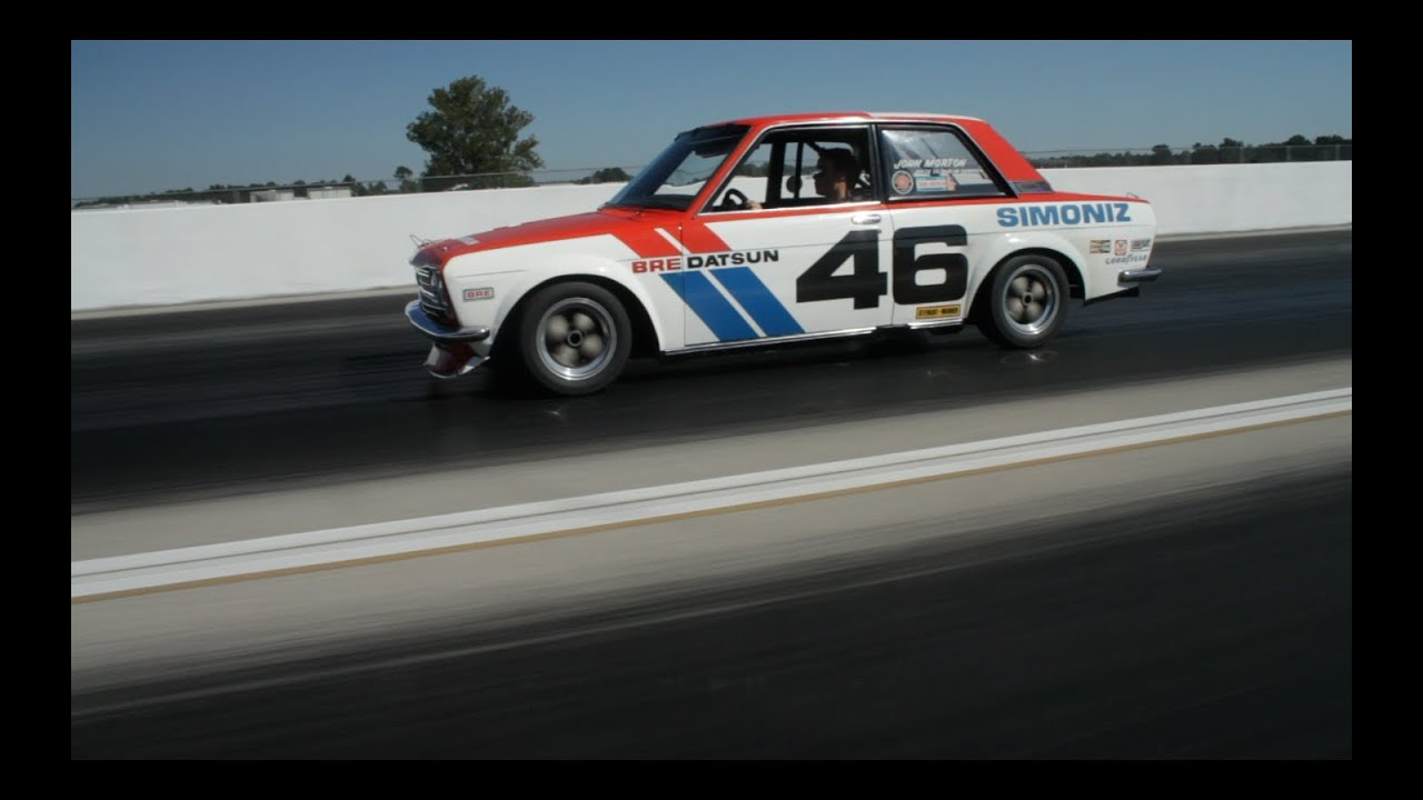 Vintage Datsun BRE 510 Race Car Driven - YouTube