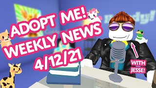 OCEAN EGG COMING FRIDAY! 🌊🥚 More Pet Reactions! 🤩 Weekly News 4/12👁‍🗨 Adopt Me! on Roblox