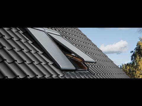 Установка рольставней VELUX на мансардное окно