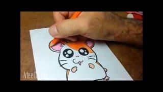 Como desenhar o Hamtaro passo a passo - How to draw Hamtaro