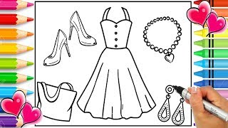 How to Draw Beautiful Outfits Step by Step for Kids | Glitter Art | How to Draw Pretty Dresses