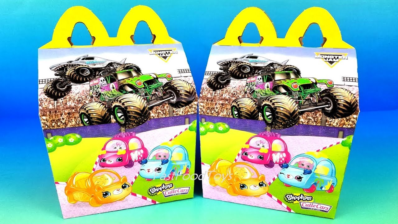 Mcdonalds Toy Schedule 2019 2019 NEXT McDONALD'S HAPPY MEAL TOYS MONSTER JAM SHOPKINS CUTIE