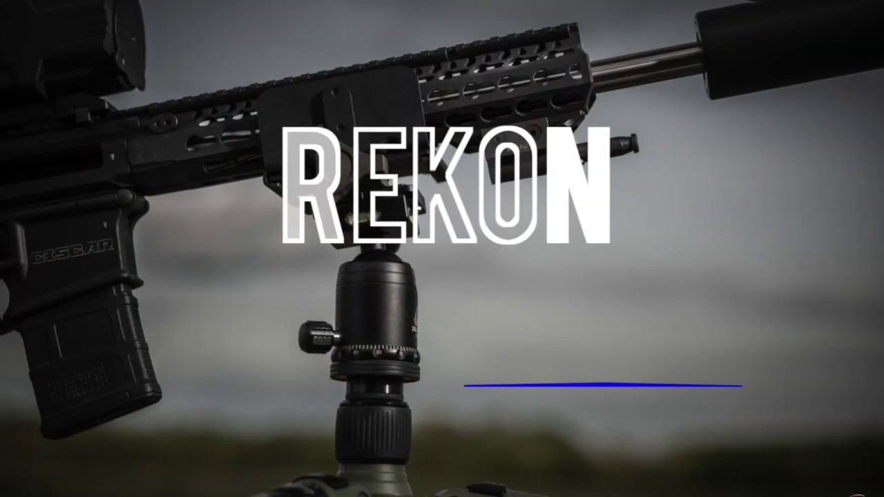 Rekon CT-1 HD Carbon Tripod System - Shoot Standing, Seated or Prone