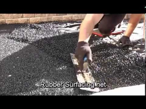 Recycled rubber surfacing base install youtube recycled rubber surfacing base install solutioingenieria Choice Image