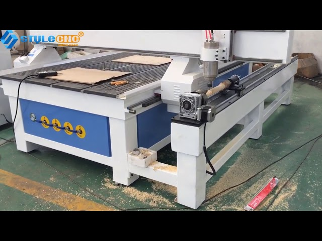 STYLECNC 4th axis rotary CNC router for 3d relief carving