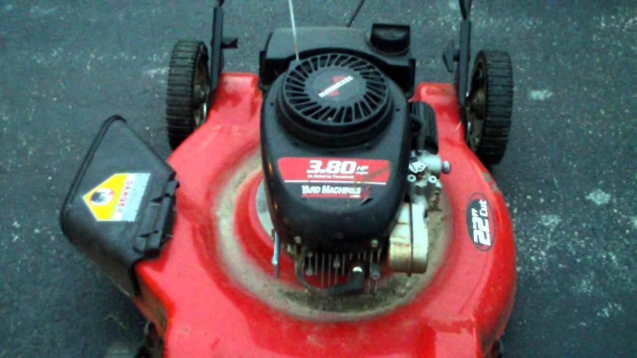 mtd 22 yard machine push mower manual