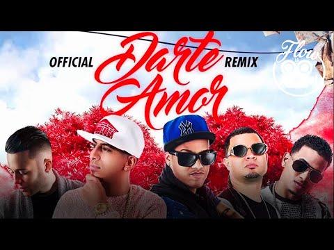 OnellFlow Feat Pusho, Randy, Jowell, Ozuna, Nio Garcia - Darte Amor Remix (Lyric Video)