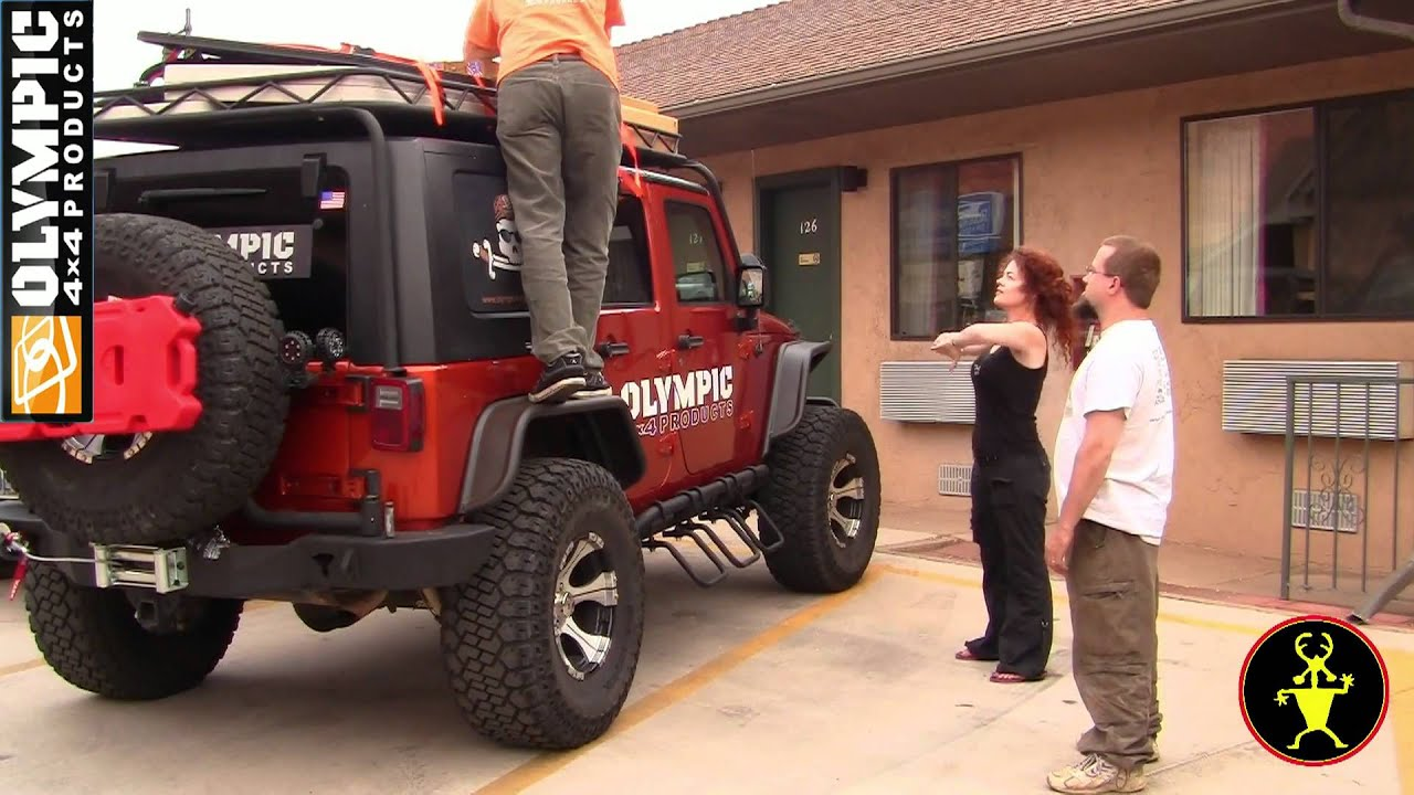 Jeep Wrangler Kayak Rack >> JK Cargo Rack from Olympic 4x4 Products - YouTube