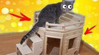 Дом для кота Макса и кролика Баффи. Обзор нового вольера для животных.