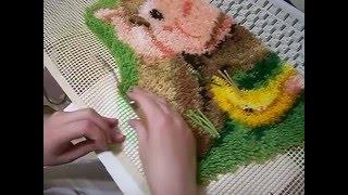 Коврик крючком,мастер класс по ковровой технике