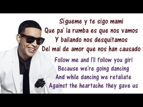 Daddy Yankee - Sígueme y Te Sigo Lyrics English and Spanish - Translations & Meaning - Letras ingles