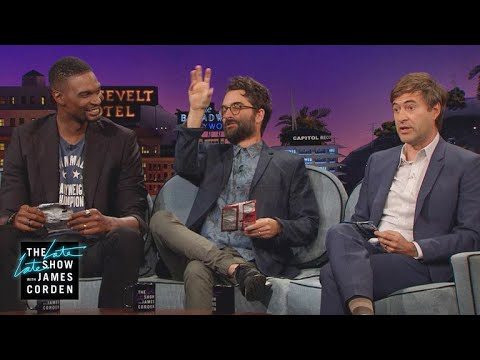 Chip Bag Trashcan Shootout w Chris Bosh, Jay Duplass & Mark Duplass