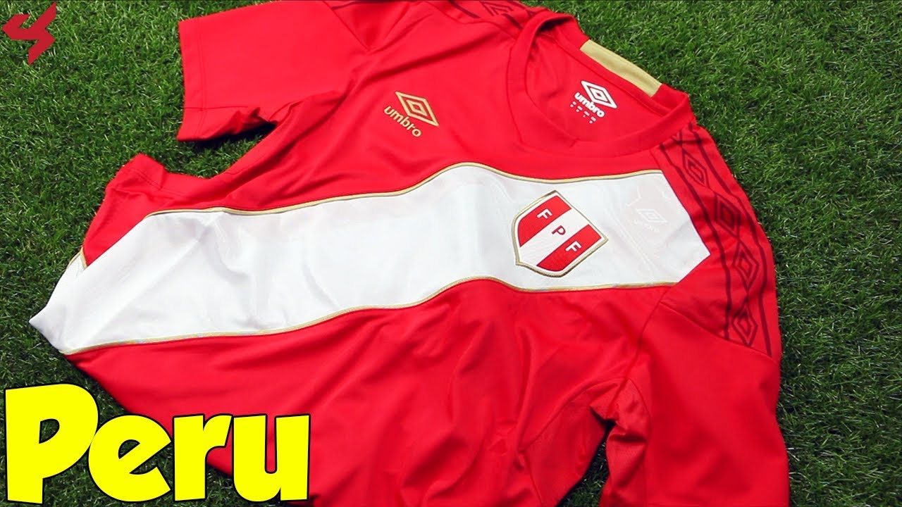 cce0a5d81a2 World Cup 2018 Umbro Away Peru Soccer Jersey Unboxing + Review - YouTube