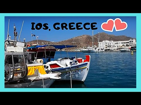 GREECE, the beautiful natural HARBOUR of the island of IOS
