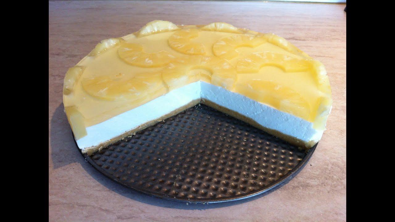 Творожный торт с ананасами без выпечки рецепт 2