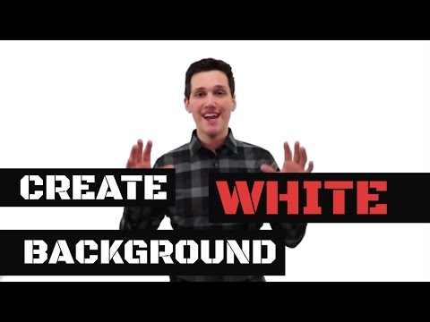 How To Create An Infinite White Screen Background For Video