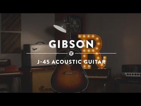 Gibson J-45 Acoustic Guitar   Reverb Demo Video