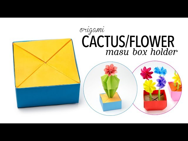 Origami Cactus / Flower Holder (for Masu Box) ✿ Paper Kawaii