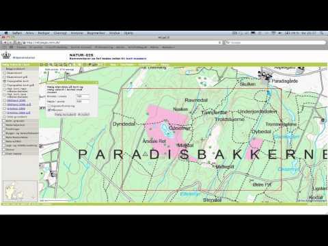 Topografisk Kort Over Danmark Friluftsblog Dk Youtube