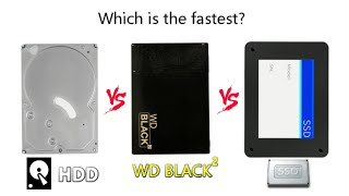 The SSD vs WD Black2 vs HDD Face off! The race is on!