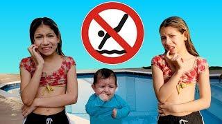 REGRAS DE CONDUTA NA PISCINA Rules of conduct in the pool قواعد السلوك في المجمع