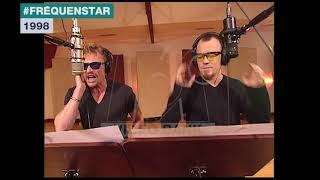 Extrait archives M6 Video Bank // Fréquenstar - Johnny Hallyday et Pascal Obispo (1998)