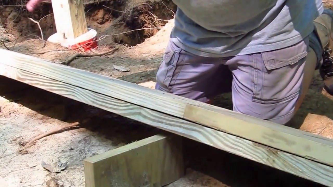 Diy Shed Askthebuilder How To Make A Wood Floor Beam Youtube