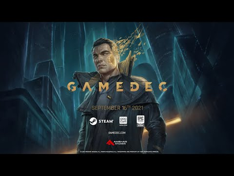GAMEDEC - Official Cinematic Release Date Trailer