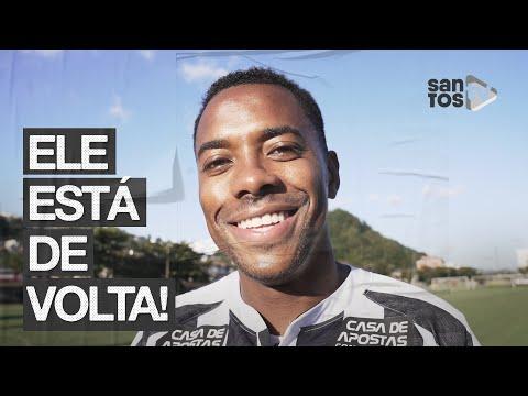 ROBINHO ESTÁ DE VOLTA AO SANTOS FC!