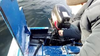Заводим мотор Suzuki 30 мороз -30
