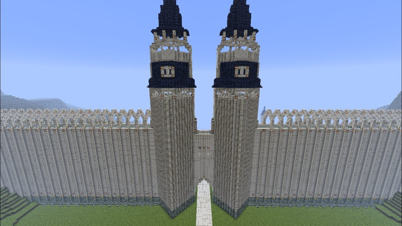 Minecraft Elven Walls And Towers Part 19 Season 2 Youtube