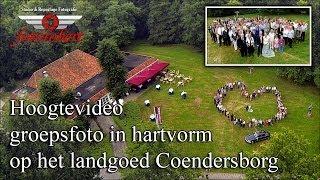Fotorobert groepsfoto in hartvorm op het landgoed Coendersborg