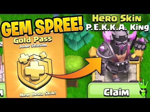 UNLOCKING THE P.E.K.K.A KING SKIN DAY 1! - Gemming The Gold Pass - Clash Of Clans