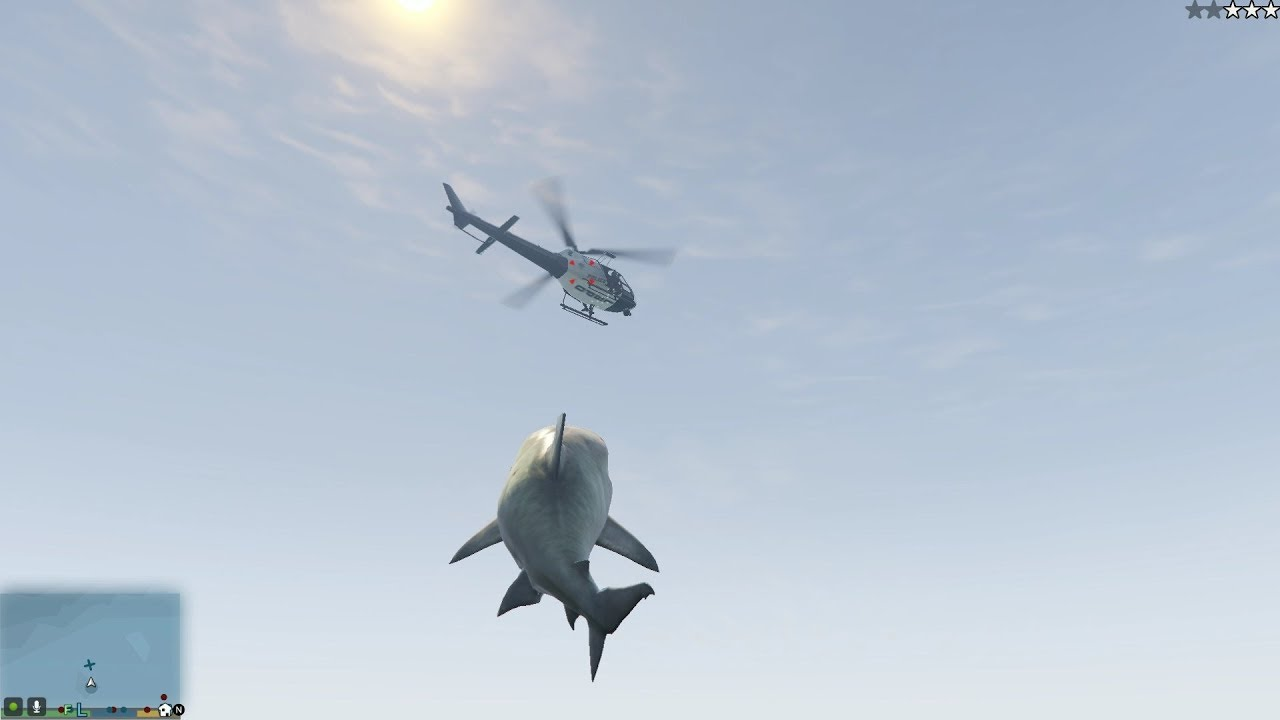 Take control of a man-eating Shark with this Grand Theft