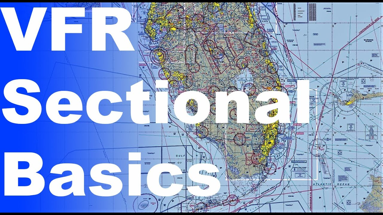 Ep. 34: How to read a VFR Sectional Chart | Basic Chart/Map ...