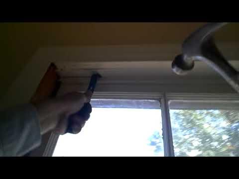 Wood window removal