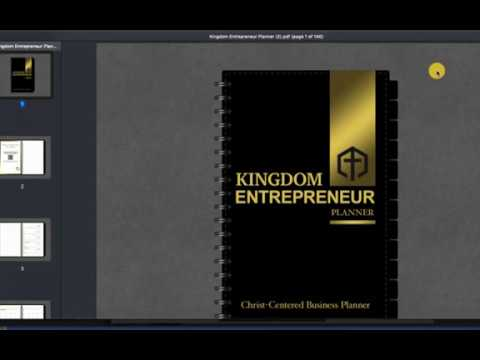 How To Use The Kingdom Entrepreneur Planner