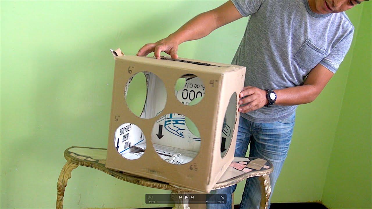 Como hacer un calibrador para globos con una caja de cartón # 24 ...