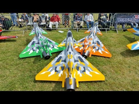 "3 X J-10 VECTORED THRUST ""CHENGDU"" CARF MODELS RC SPORTS JETS - AZAEROSPORTS LONG MARSTON - 2017"