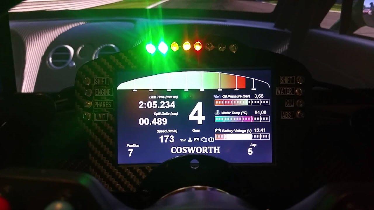 Dashboard Simproject Skin Cosworth Bentley Gt3