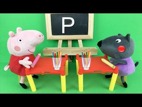peppa-pig-llega-la-primera-al-colegio.-nuevo-video-de-juguetes-en-español