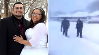 Texas Groom Walks Through 10 Inches of Snow to Meet His Bride at the Altar