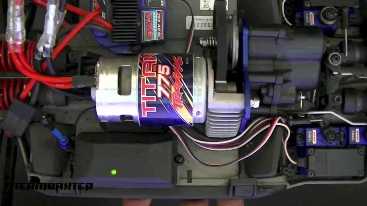 12 Volt Motor >> Traxxas Summit Titan 775 Motor Replacement - YouTube
